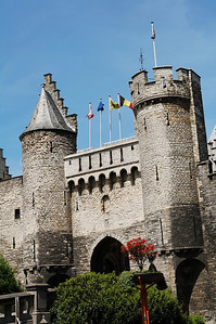View on Het Steen, the oldest castle in Antwerp (Antwerpen), Belgium.