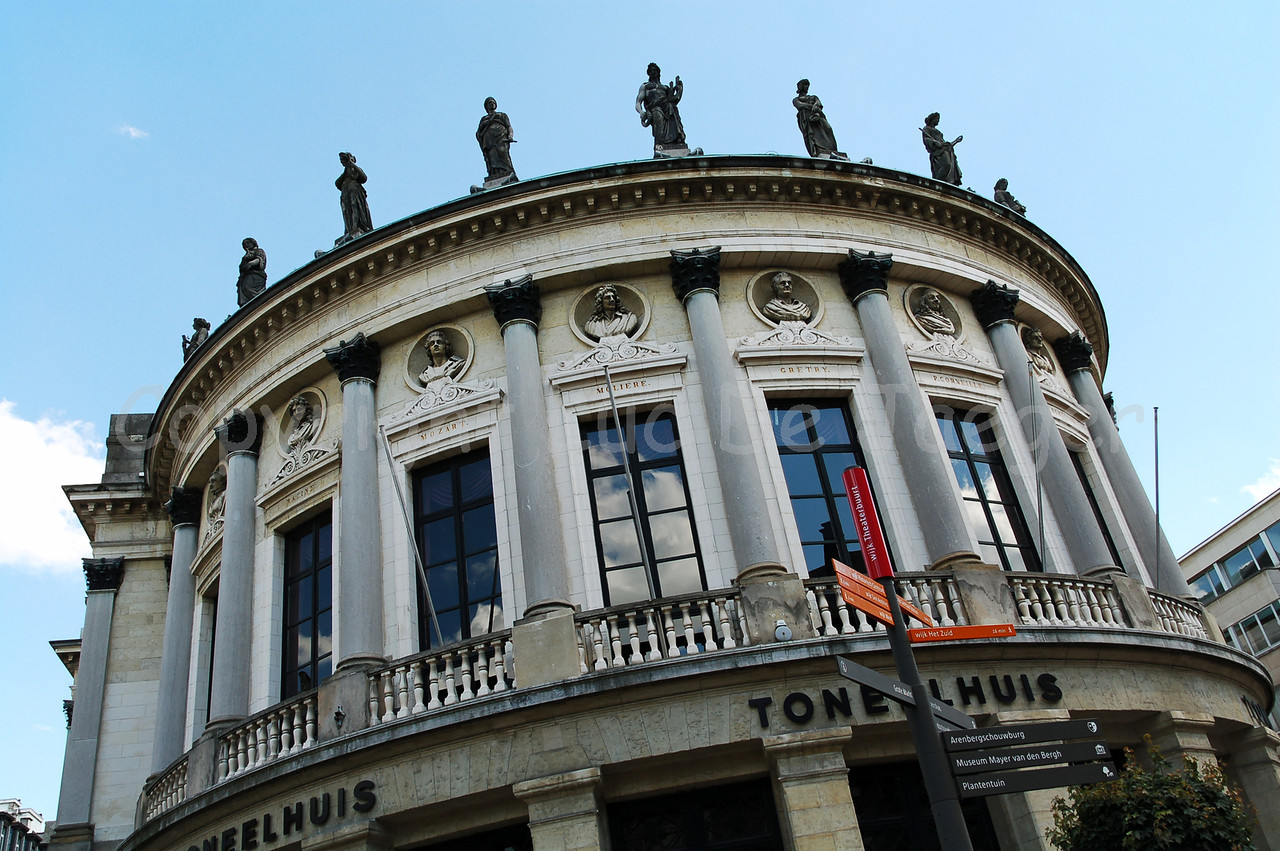 The Bourlaschouwburg (Bourla Theatre) in Antwerp (Antwerpen), Belgium.