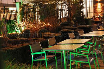 """""""De Markt"""", a restaurant along the Graanmarkt in Antwerp (Antwerpen), Belgium."""