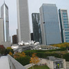 10-04-12 Chicago 468 Two Prudential Plaza Aon Center Aqua Pritzker Pavilion from Nichols Bridgeway