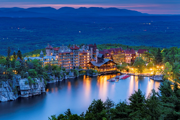 Mohonk Mountain House at Blue Hour, New Paltz, NY