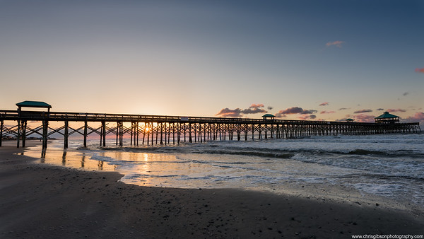 Folly Beach Pier At Sunrise, Charleston, SC