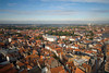 Bruges, Belgium - view from Belfry at Market Square