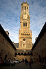 Bruges, Belgium - Market Square, The Belfry and the Cloth Hall