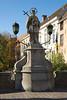 Bruges, Belgium - Statue of Joannes Mucomicenes