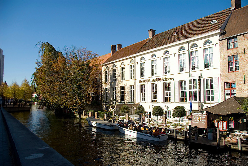 Bruges, Belgium - along the Canals of Bruges, Martin's Orangerie Hotel