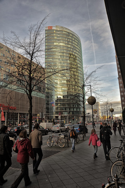 DB Buiding, Potsdamer Platz on a late December afternoon