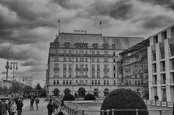 Hotel Adlon, just north of the Brandenburg Gate