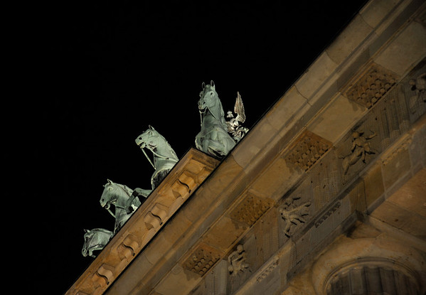 Quadriga atop the Brandenburg Gate, Berlin.
