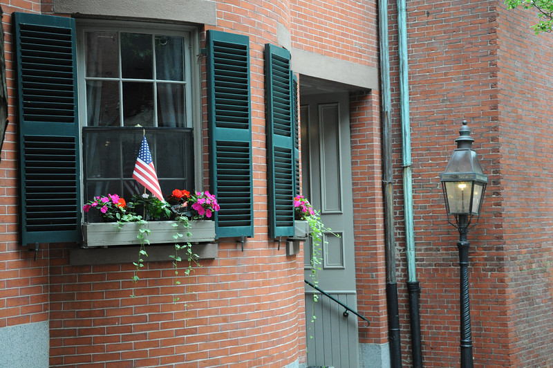 Homes in the streets of Boston