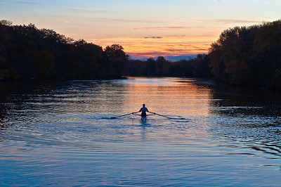 Rower on Charles River