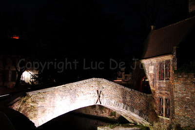 The Bonifacius bridge (Bonifaciusbrug) in the surroundings of the Church of Our Lady (Onze-Lieve-Vrouwekerk) in Bruges (Brugge), Belgium.