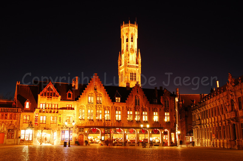 The 'Burg' square, the heart of the administrative Bruges (Brugge), Belgium, with a view on the Belfry (Belfort).
