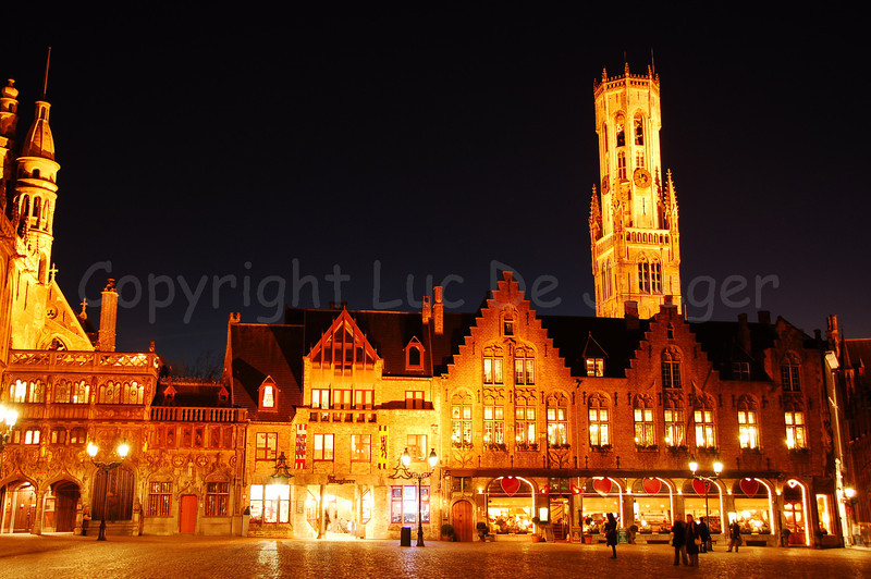 The 'Burg' square, the heart of the administrative Bruges (Brugge), Belgium. To the left is the entrance to the Holy Blood chapel, also known as 'De Steeghere'.