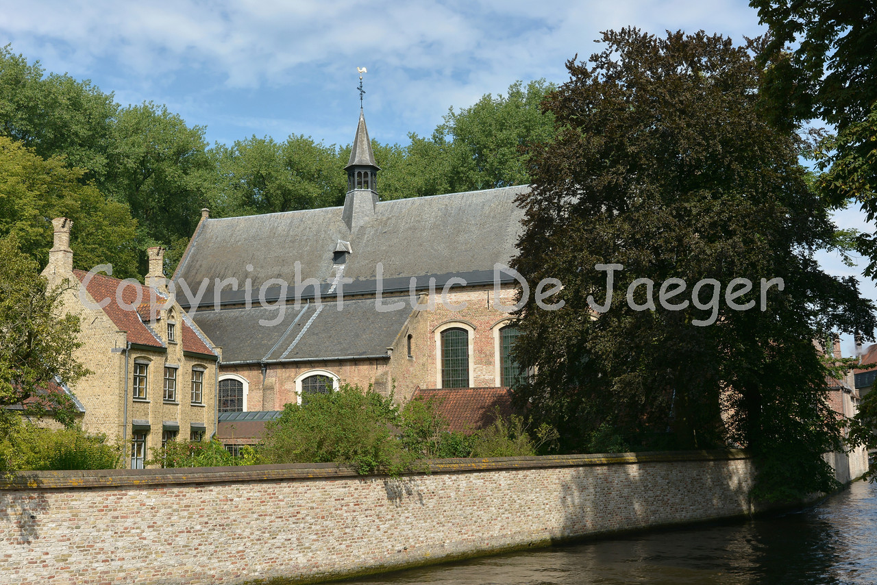 The Beguinage on the Wijngaardplein in Bruges (Brugge), Belgium.
