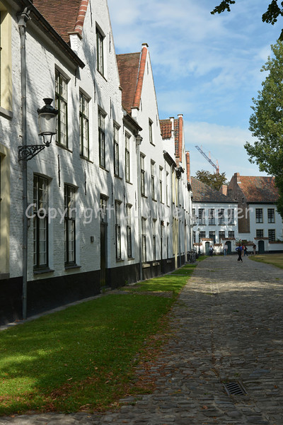 The beautiful and peaceful Beguinage 'De Wijngaard' (= the Vineyard), just behind the Minnewater.