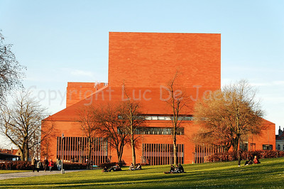 The biggest Concert Hall of Belgium, situated along 't Zand in Bruges (Brugge). Captured in the late afternoon.
