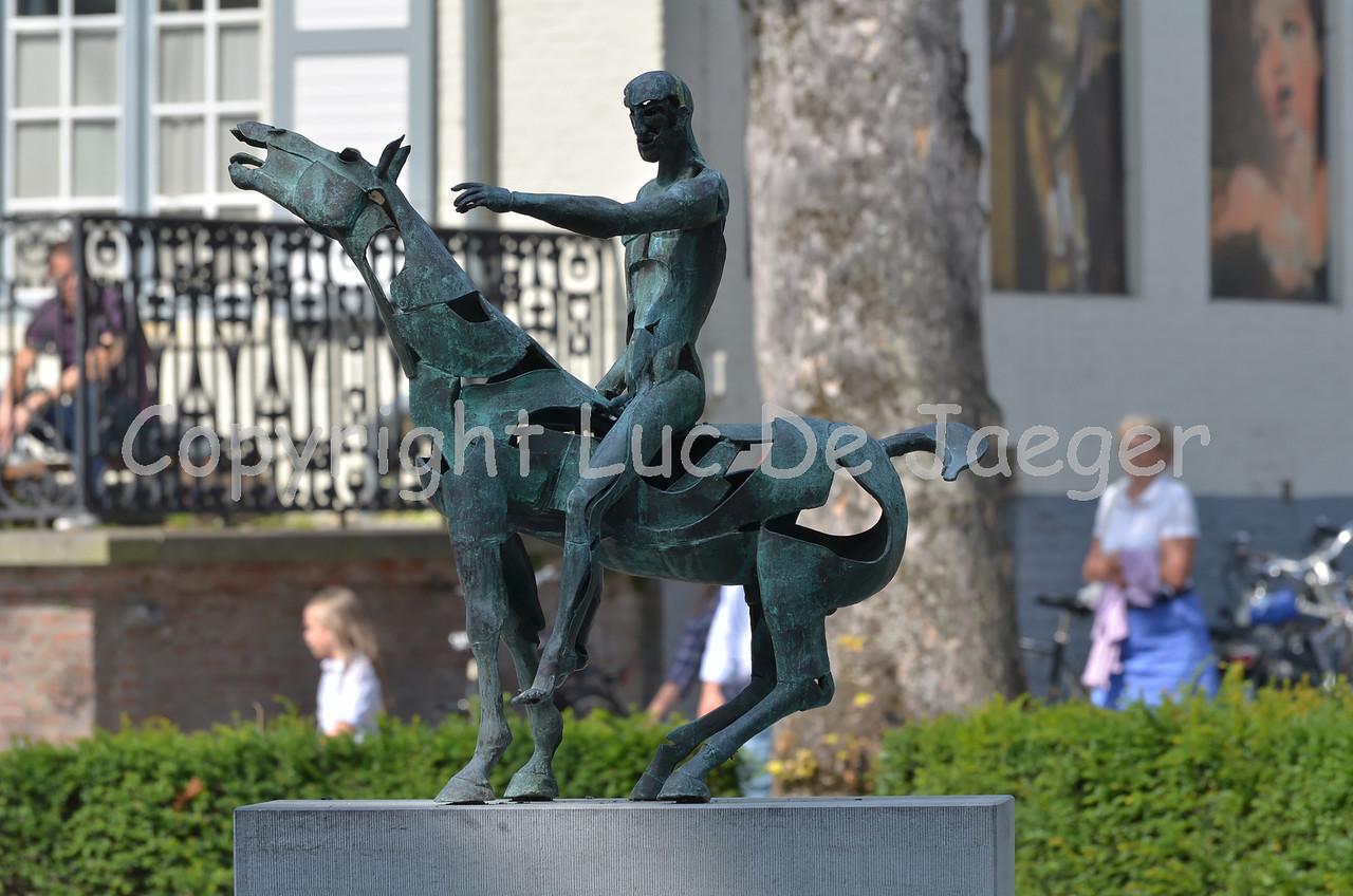 Statue in Bruges (Brugge), Belgium.