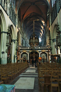 Inside the Church of Our Lady (Onze Lieve Vrouwekerk) in Bruges (Brugge), Belgium.