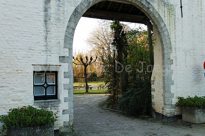 One of the entrances leading to the Minnewaterpark in Bruges (Brugge), Belgium.