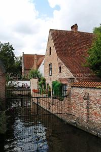 The beguinage in Bruges (Brugge), Belgium.