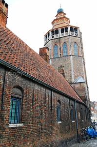 The Jeruzalemkerk (Church of Jerusalem) in Bruges (Brugge), Belgium.