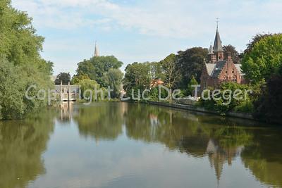 The amazing Minnewaterpark in Bruges (Brugge), Belgium.