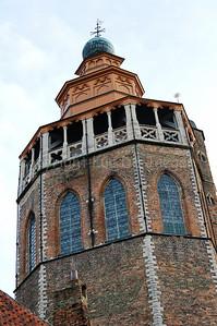 The octagonal tower of the Jeruzalemkerk (Church of Jerusalem) in Bruges (Brugge), Belgium.