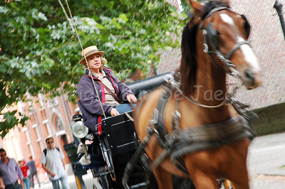 Horse and carriage are another way to discover Bruges (Brugge), Belgium.