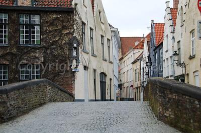 The Peerdenbrug and Peerdenstraat in Bruges (Brugge), Belgium.