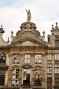 The Market square (Grote Markt) in Brussels (Brussel), Belgium.