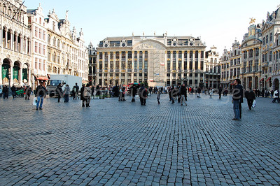 The Market Square (Grote Markt) in Brussels (Brussel), Belgium, also named the Grand Place.
