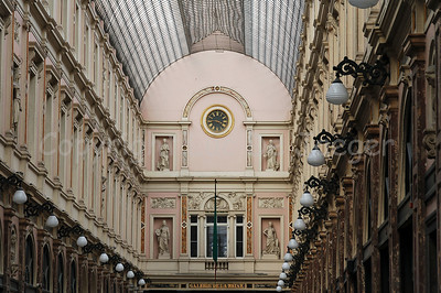 The Galerie du Roi, a passage connecting different streets and actually a shopping mall in Brussels (Brussel), Belgium.
