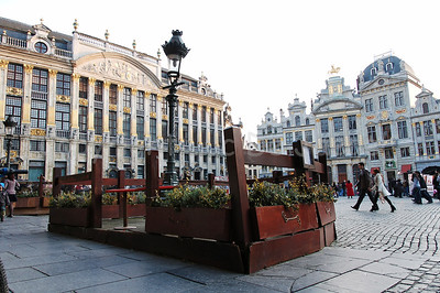 The Market square (Grote Markt) in Brussels (Brussel), Belgium, captured in the late afternoon