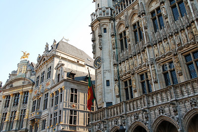 The Market square (Grote Markt) in Brussels (Brussel), Belgium.