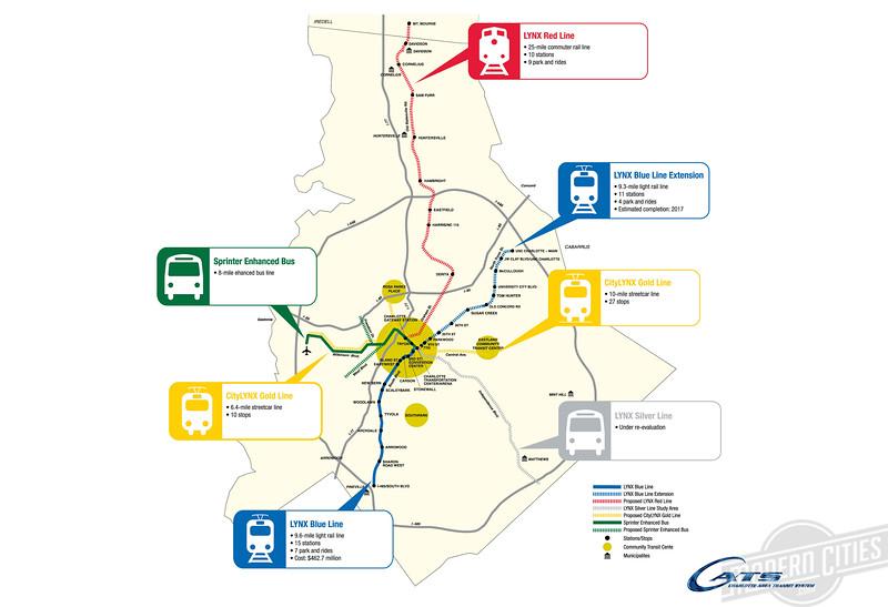 Aerial video of Charlotte's new light rail line | Modern Cities on
