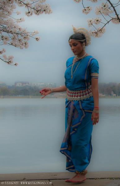 Reflecting. Konark Dance School Performers at D.C. Cherry Blossom Festival.