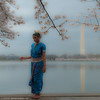 Reflecting. Konark Dance School Performers at D.C. Cherry Blossom Festival.