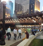 A Summer Evening on the Chicago River