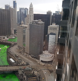 A view from above: St. Patrick's Day in Chicago