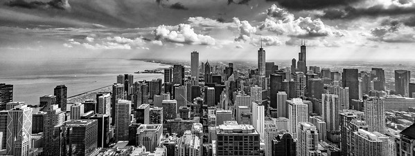 Chicago Skyline Black and White