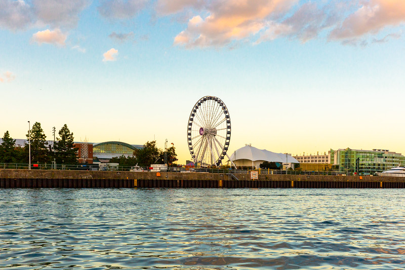 Navy Pier at Sunset