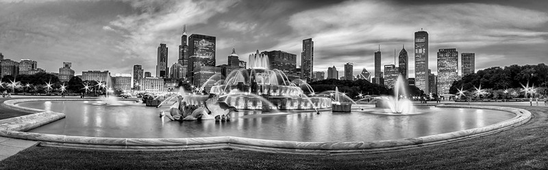 Buckingham Fountain Black and White