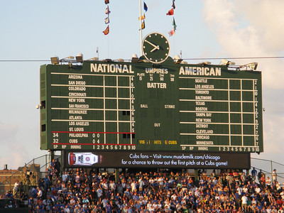 GO Cubs GO! (final score: 11-6) Hey Chicago, what' d you say, the Cubs are gonna win today!