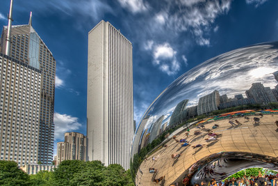 Chicago Bean and Skyline