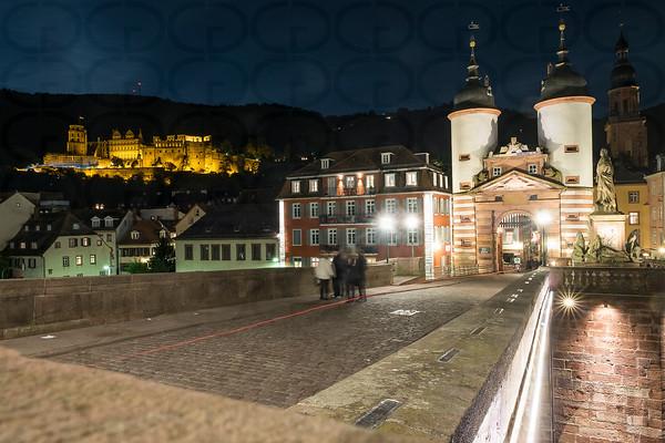 The Castle and Old Bridge of Heidelberg
