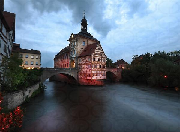 Altes Rathaus at Night