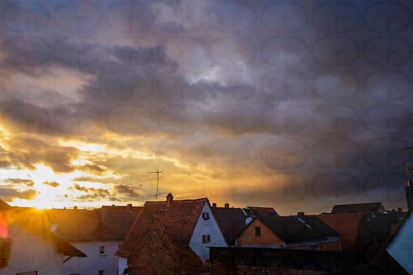Sunset over Grosswallstadt