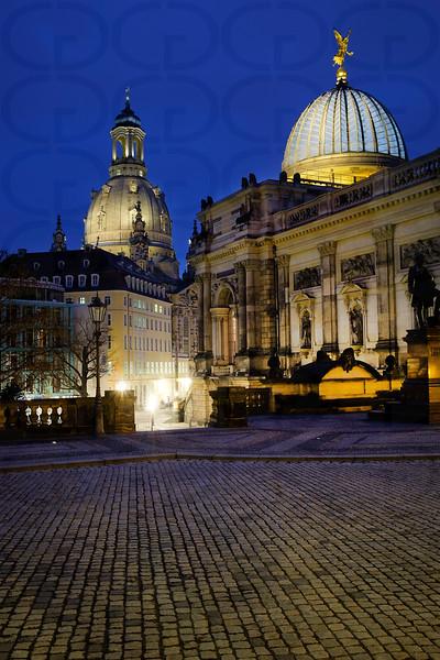 Frauenkirche & Academy of Fine Arts