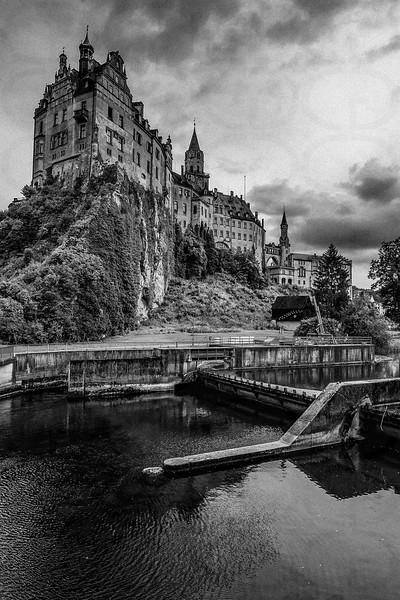 Sigmaringen Castle in Mono